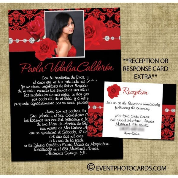 Floral Spring Invitations For Quinceanera Or Sweet 16