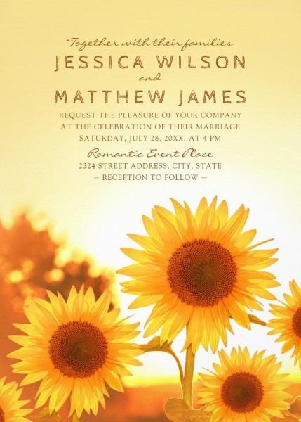 Rustic Sunflower Wedding Invitations Best Modern Floral Summer