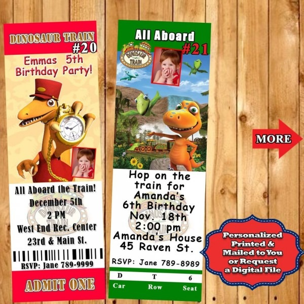 Dinosaur Train Birthday Invitations 10 Ea Or Thank U Or Candy Bar