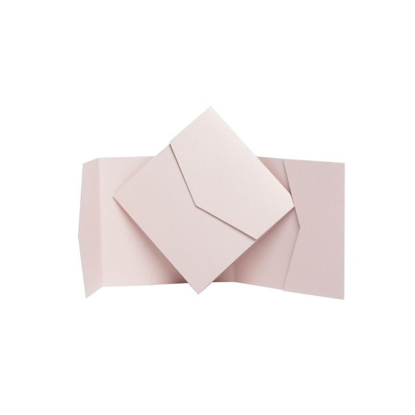 Nude Pearl Pocketfold Invites  Pocket Fold Wallet Invitations