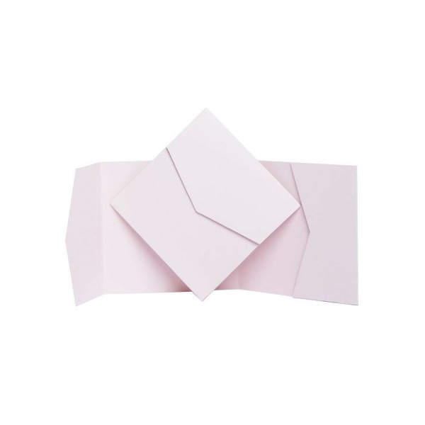 Nude Matte Pocket Fold Invites  Pocketfold Wallet Invitations  Diy