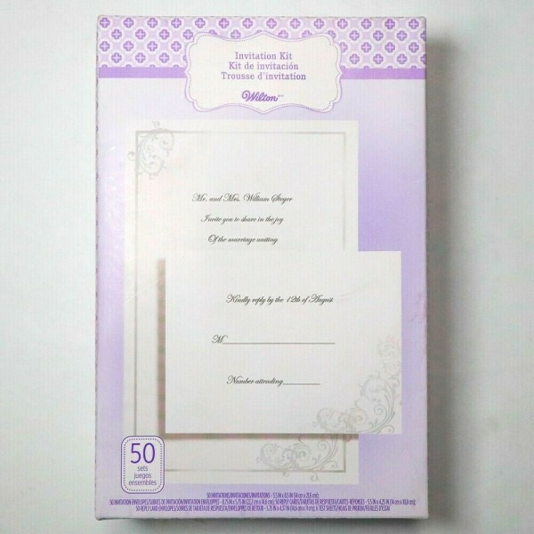 Wilton 50 Count Wedding Invitation Kit