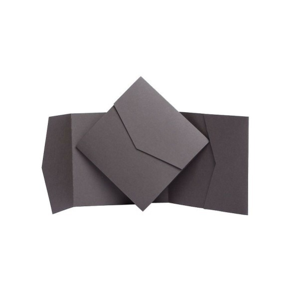 Mocha Matte Pocket Fold Invites  Pocketfold Wallet Invitations