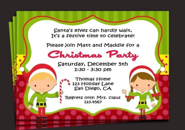Sample Invitation For Christmas Party Baby Showers Best Party Invitation Collection With