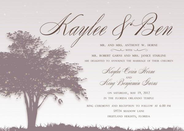 Sample Wedding Invitation Wording Reception Invitation Message