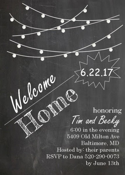 Coming Home Party Invitations New Selections Spring 2019