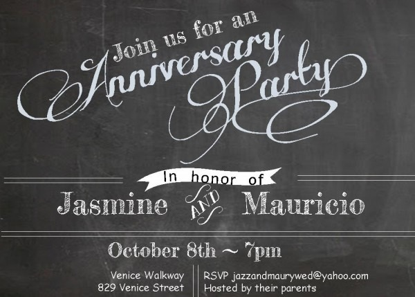 Anniversary Party Invitations New Selections Winter 2019