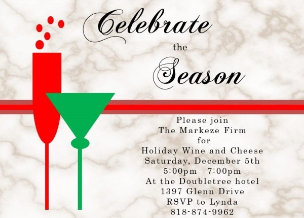 Holiday Christmas Open House Party Invitations 2019