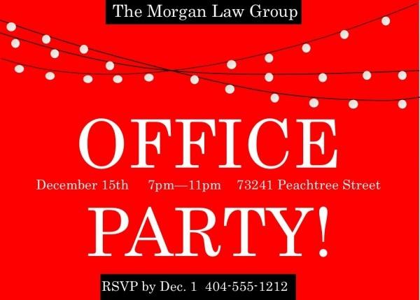 Sar Cute Company Holiday Party Invitation