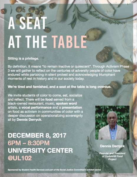 A Seat At The Table – Dec  8