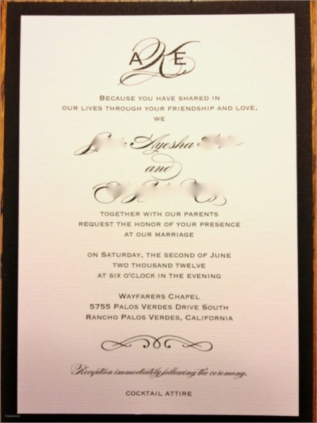Second Wedding Reception Invitation Wording Samples Lovely Post