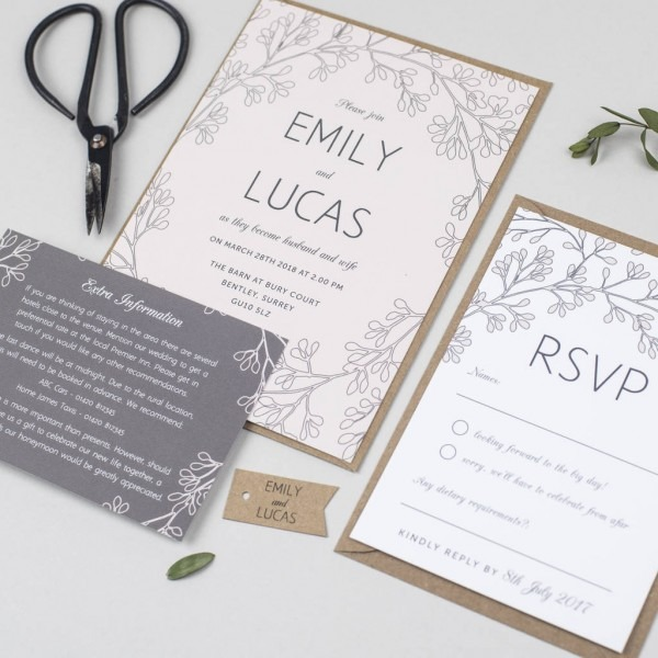 Secret Garden Wedding Invitation By Pear Paper Co Fiesta Gardens