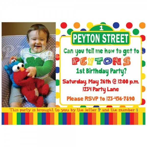 Sesame Nice Sesame Street Birthday Invitations