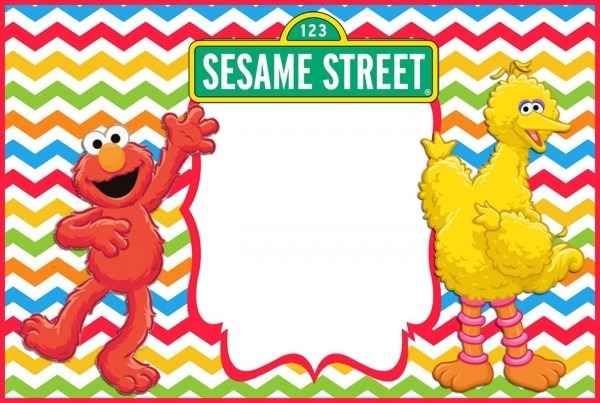 Sesame Street Elmo Birthday Invitation Template Free Printable