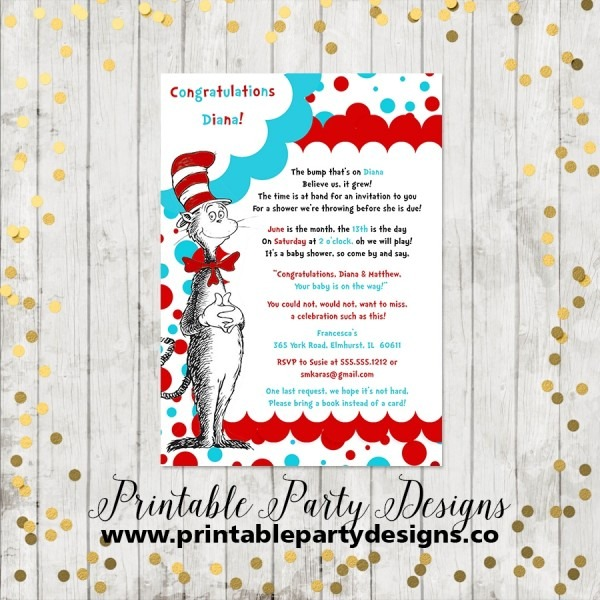 Baby Shower  Dr Seuss Baby Shower Invites  Author Archives Dr