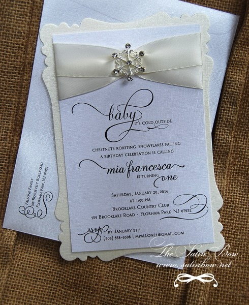 Winter Wonderland Girl Baby Shower Invitations