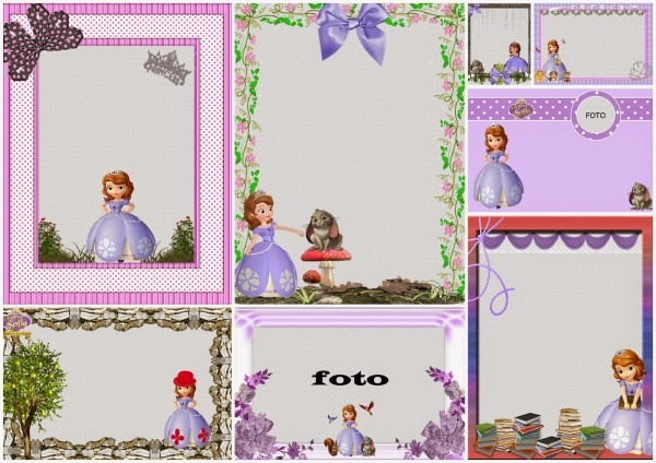 Sofia The First Free Printable Invitations Or Photo Frames