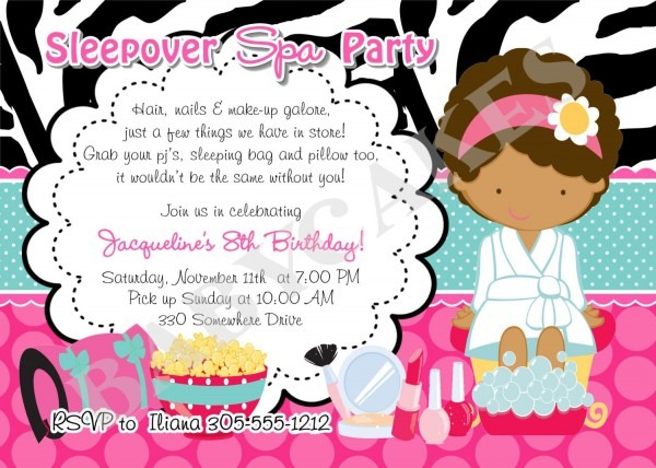 Spa Birthday Party Invitations Pri Cool Free Apps For Birthday