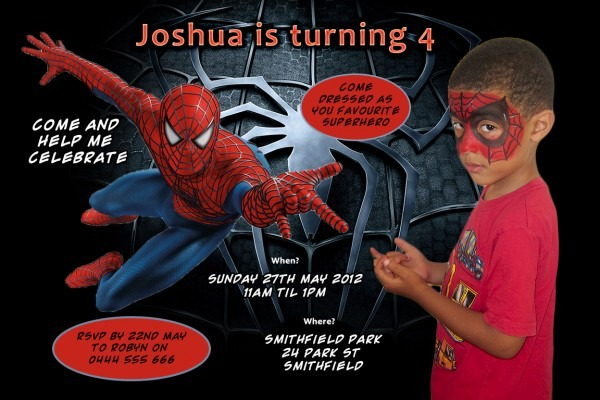 Spiderman Personalised Party Invitations Â« Lots4kids