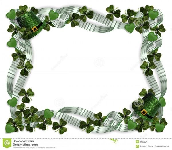 St Patrick's Day Border Stock Illustration  Illustration Of