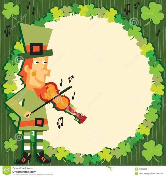 St  Patrick's Day Party Leprechaun Invitation Stock Vector