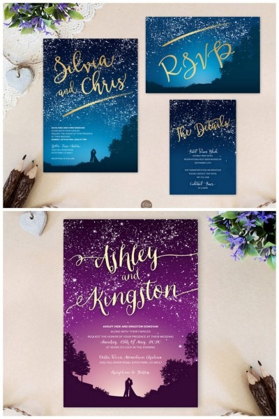 Starry Night Wedding Invitations 7