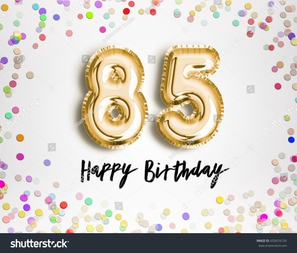 Royalty Free Stock Illustration Of 85th Birthday Celebration Gold