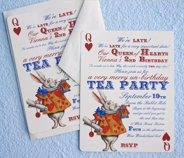 Stunning Alice In Wonderland Birthday Invitati Cute Alice In