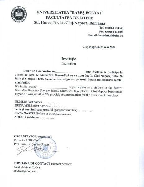Invitation Letter Format For Norway Visa