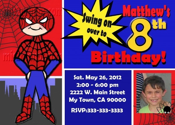 Mis 2 Manos  Made By My Hands  Spiderman Invitations Personalized