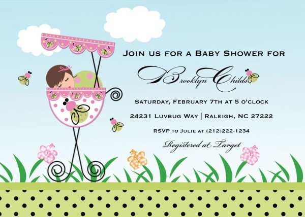 Template Baby Shower Invitation Cards Coed Wedding Shower Invitations