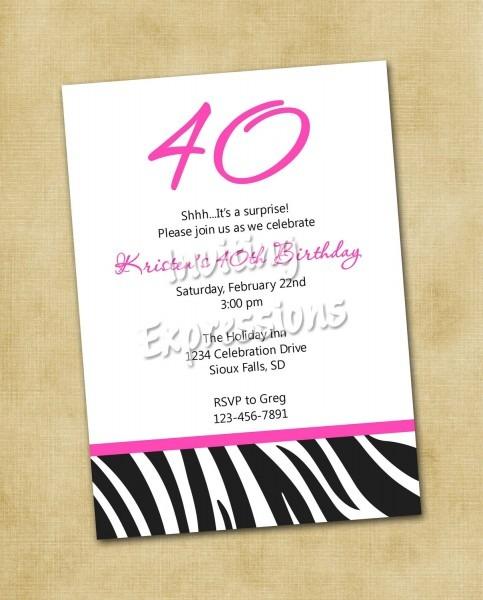 Th Birth Fabulous Th Birthday Invitation Wording Funny Birthday