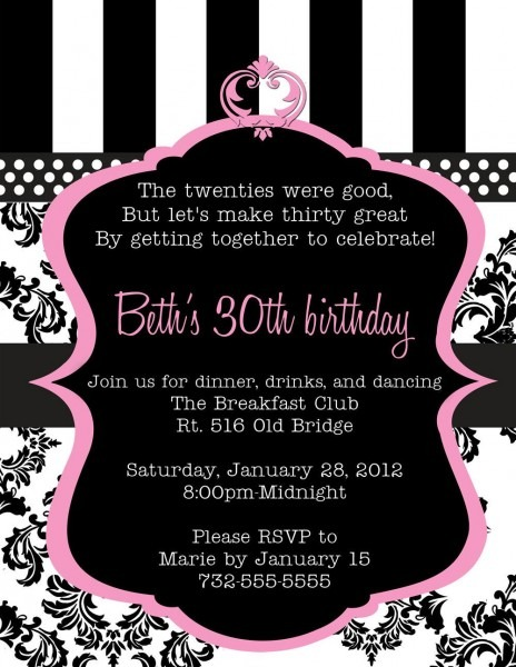 Th Birthday Invitation Wording Epic 30th Birthday Invitation