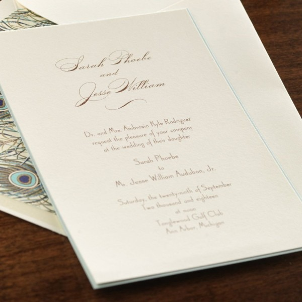 Thermography Printing Wedding Invitations Best Of Joie De Vivre By