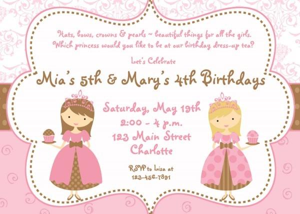 Princess Birthday Party Invitation Wording — Birthday Invitation