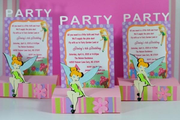 Cricut Tinkerbell Fairy Pop Up Birthday Invitations