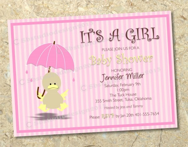 Tips To Create Baby Shower Invitations For Girls Baby Shower