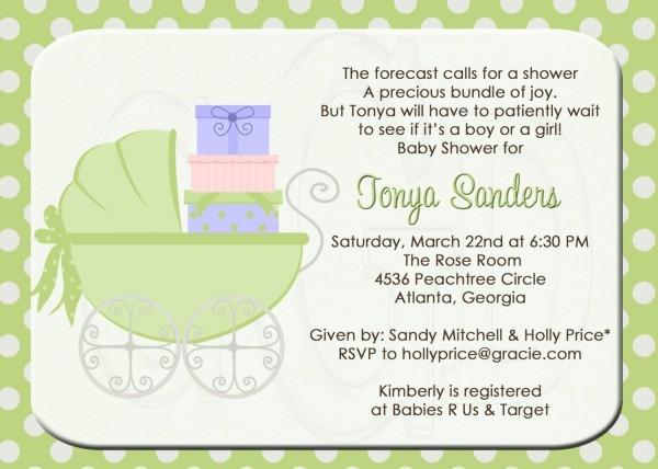 Baby Shower High Tea Invitation Wording • Baby Showers Design