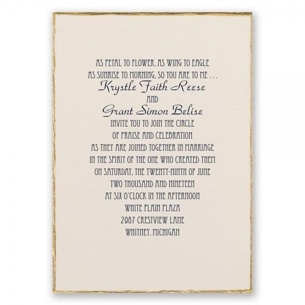 Traditional Wedding Invitation Traditional Wedding Invitation This