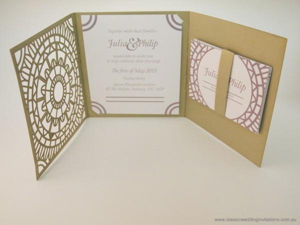 Tri Fold Wedding Invitations Tri Fold Wedding Invitations And