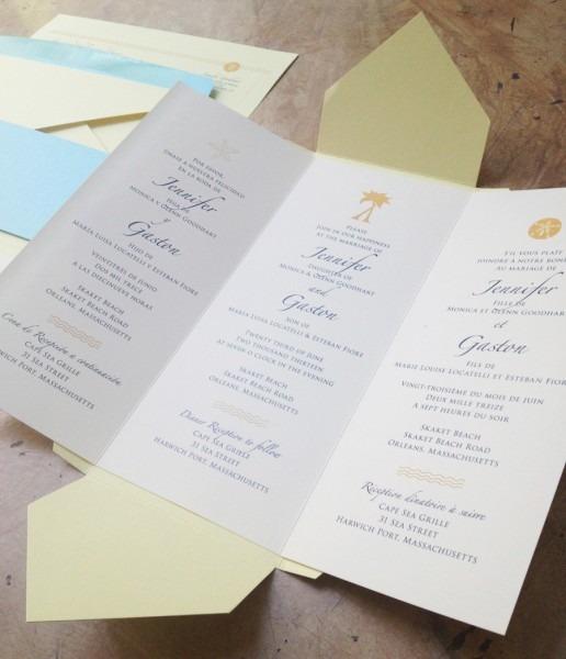 Tri Fold Wedding Invitations Tri Fold Wedding Invitations For Well