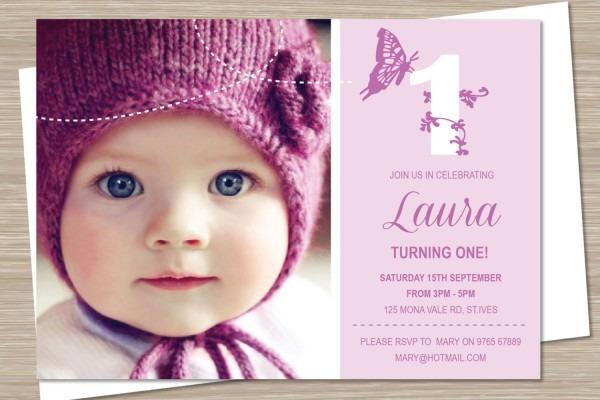 Girl 1st Birthday Invitations — Birthday Invitation Examples