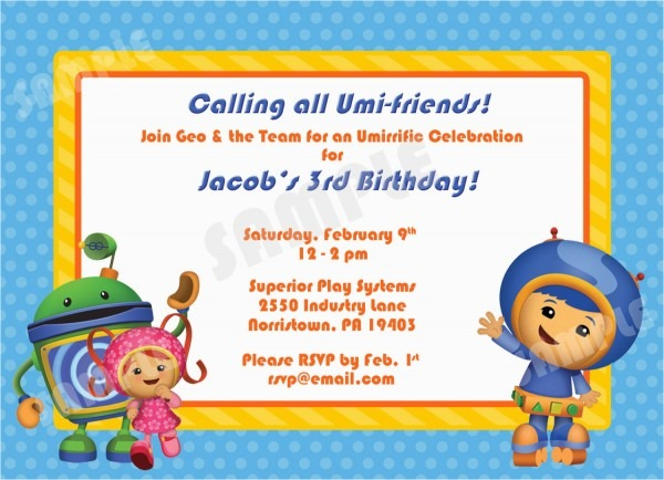 Umizoomi Birthday Invitations Printable Team Umizoomi Birthday