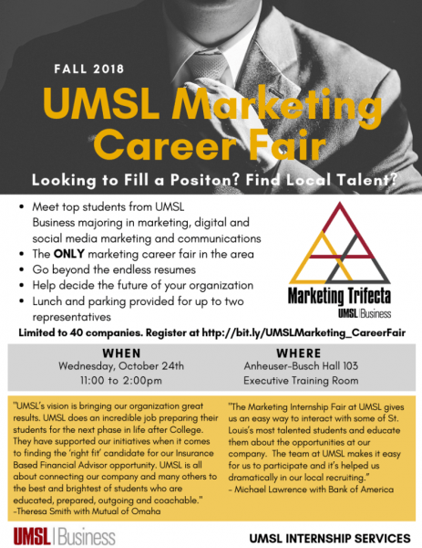 Umsl Business Invites 40 Companies To Attend Umsl Marketing