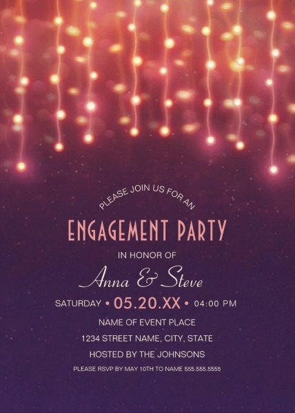 Beautiful Engagement Party Invitations