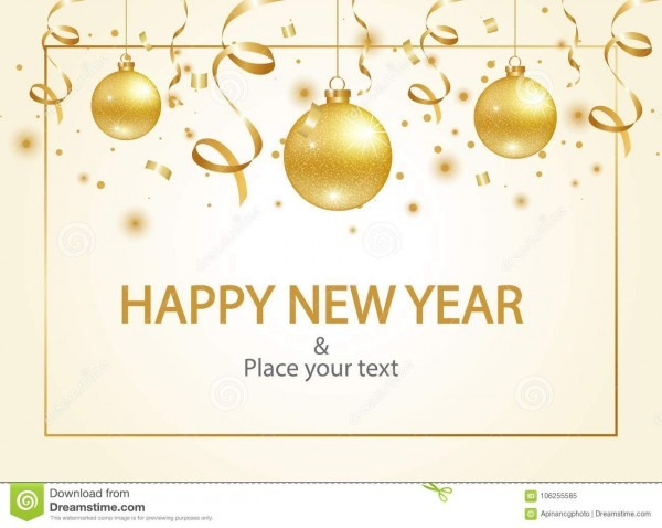 Happy New Year Party Invitation Flyer And Greeting Card Template