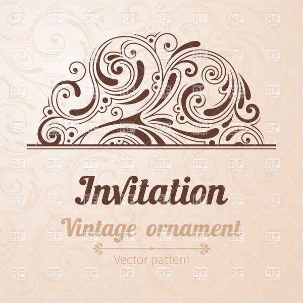 Vintage Invitation Template Vector Image Of Design Elements