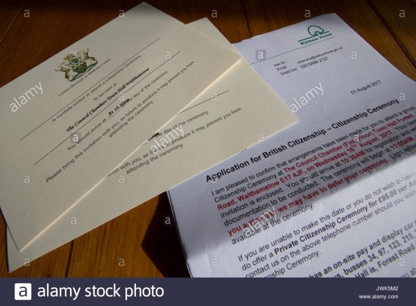 Waltham Forest Application For British Citizen Letter For