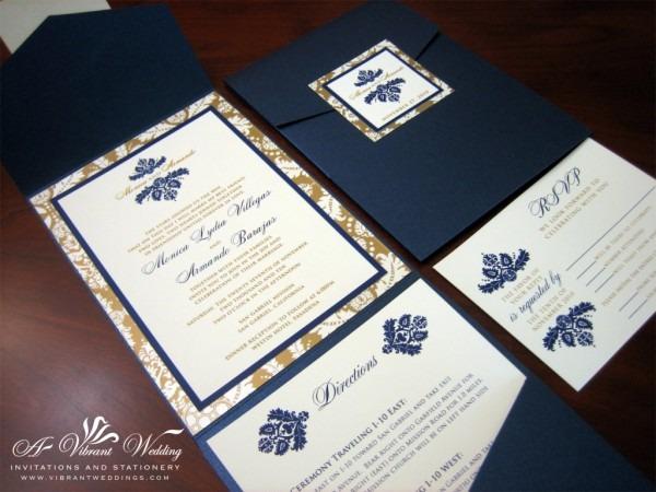 Blue Wedding Invitation – A Vibrant Wedding Invitations