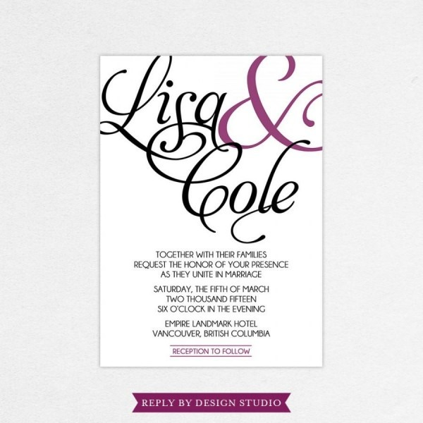 Wedding Invitation And Rsvp Card (stated)